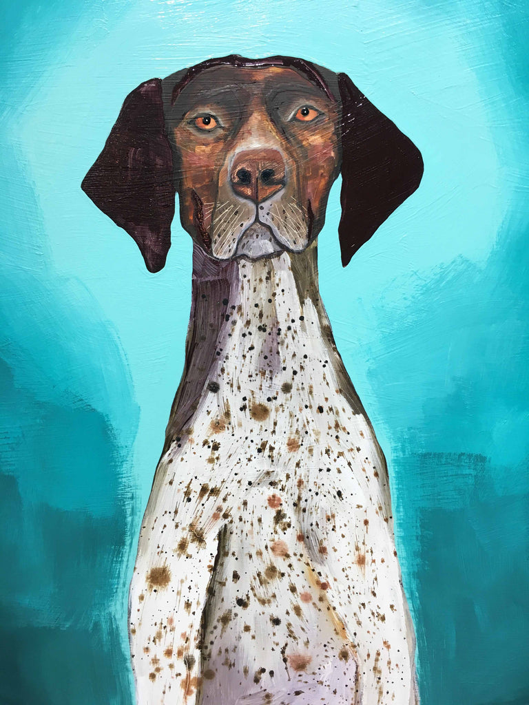 German Shorthaired Pointer - Oil Painting