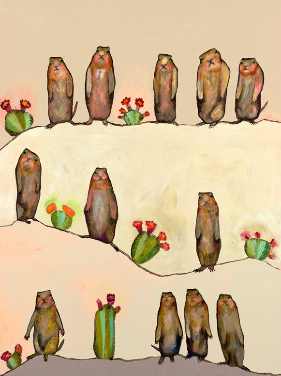Prairie Dogs on Cream - Giclée Print