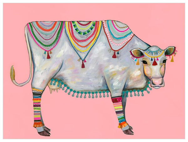 Queen of the Pasture Pink - Signed Large Giclée Canvas Print For Austin Tx Delivery Only
