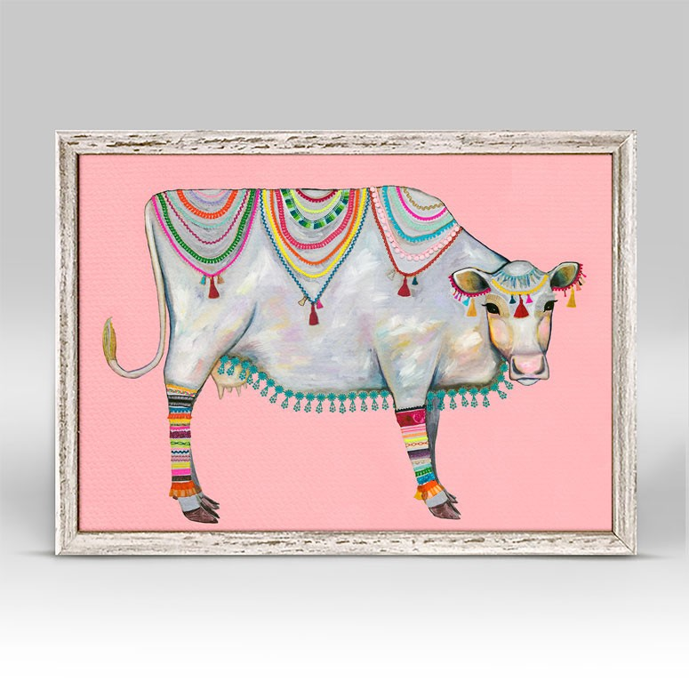 "Queen of the Pasture Pink Mini Print 7"" x 5"""