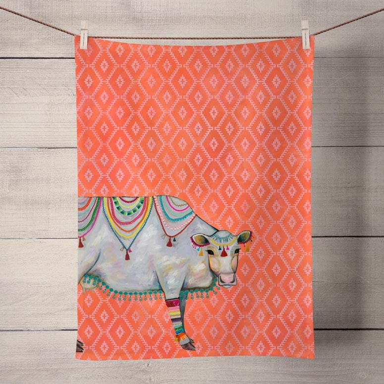 Queen of the Pasture Tea Towel