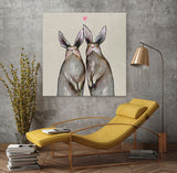 Rabbit Love Neutral - Giclée Print