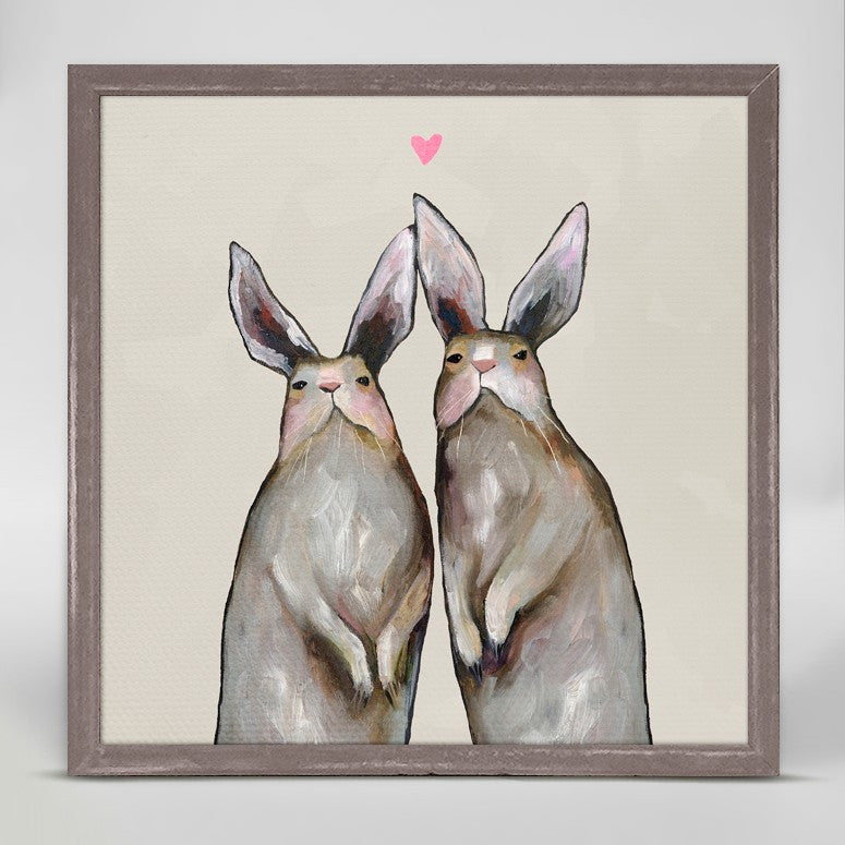"Rabbit Love - Neutral Mini Print 6"" x 6"""