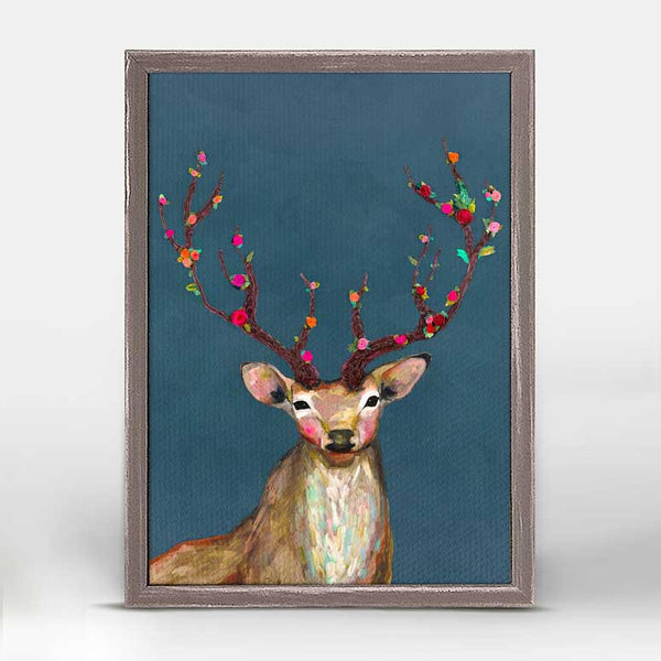 "Rosy Buck in Jewel Tone Mini Print 5"" x 10"""