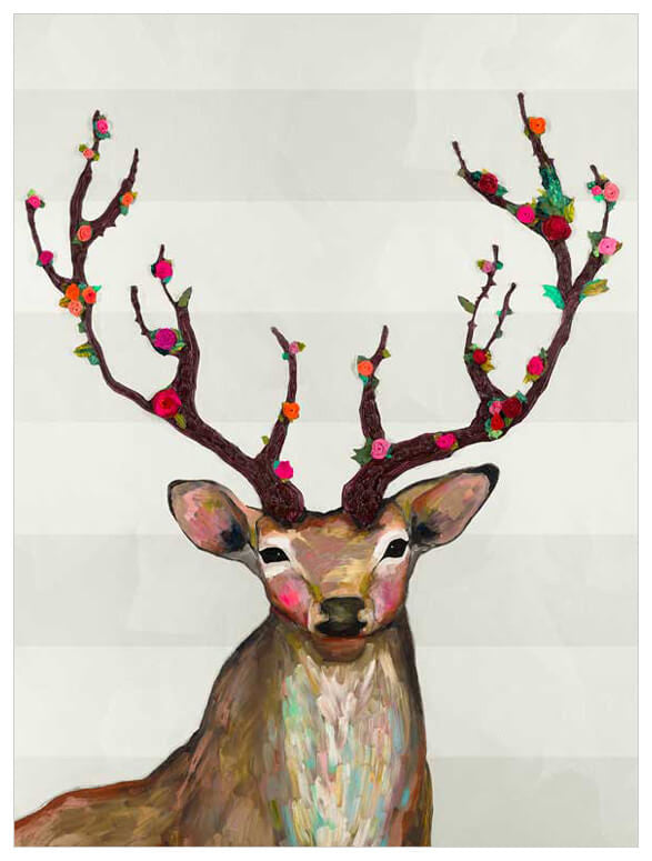 Rosy Buck on Cream - Giclée Print