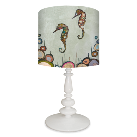 Seahorses on Celery Green - Lamp Reproduction