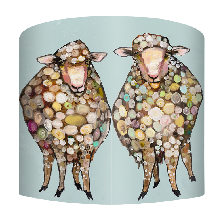 Woolly Sheep on Blue - Lamp