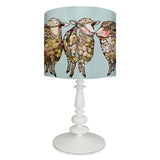 Woolly Sheep on Blue Lamp - Small