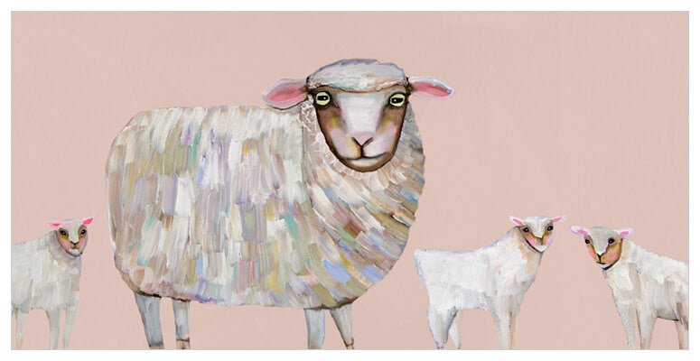 Sheep and Babies - Giclée Print