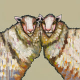 Sheep Duo on Taupe - Giclée Print