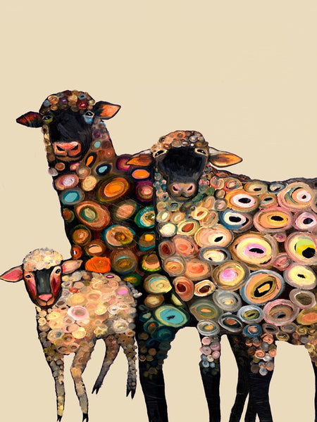Sheep on Cream - Giclée Print