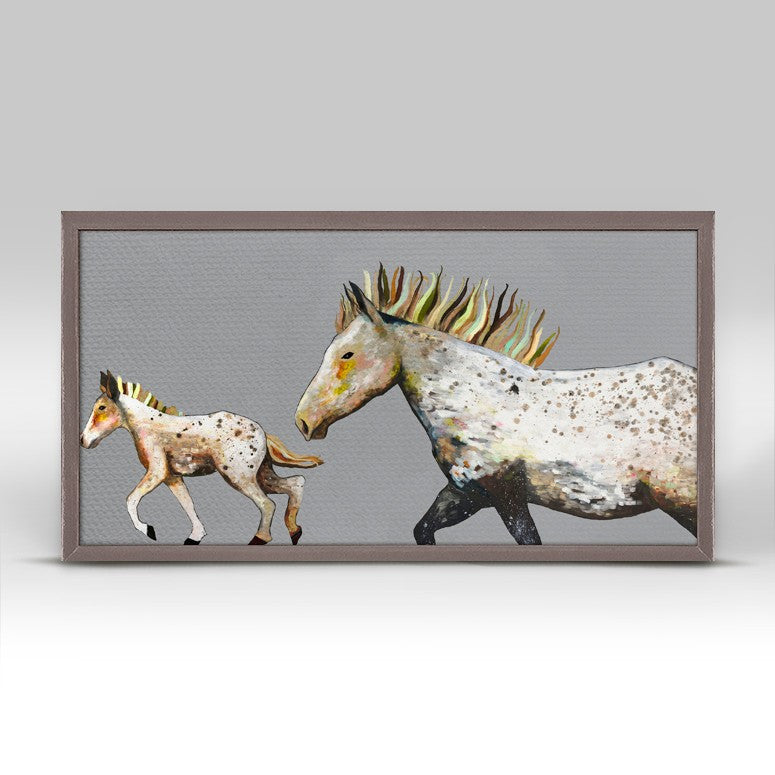"Speckled Pony Ride Mini Print 10"" x 5"""