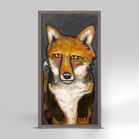 "Super Fox Grey Mini Print 5"" x 10"""
