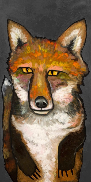 Super Fox on Grey - Giclée Print