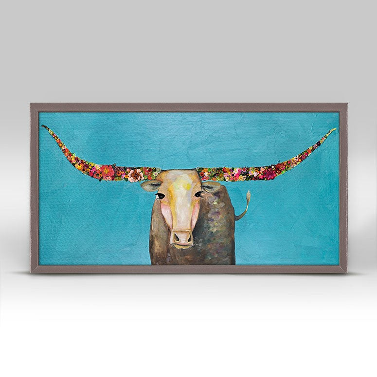"Swinging Tail Longhorn - Mini Print 10"" x 5"""