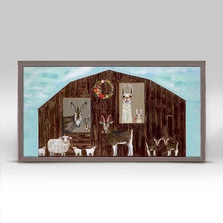 "The Barn Mini Print 10"" x 5"""