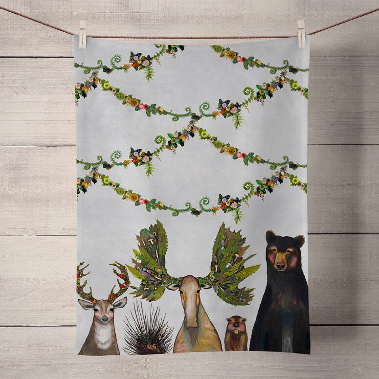 Forest Five Tea Towel