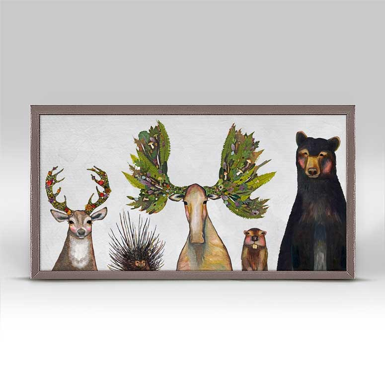 "The Forest Five Mini Print 10"" x 5"""