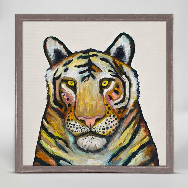 "Tiger on Cream Signed Mini Print 6"" x 6"""