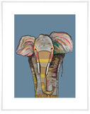 Trendy Trunk on Blue - Giclée Print