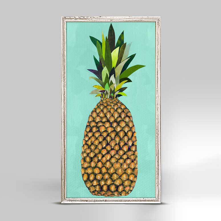 "Tropical Pineapple Aqua Mini Print 5"" x 10"""