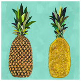 Tropical Pineapple Pair Aqua - Giclée Print