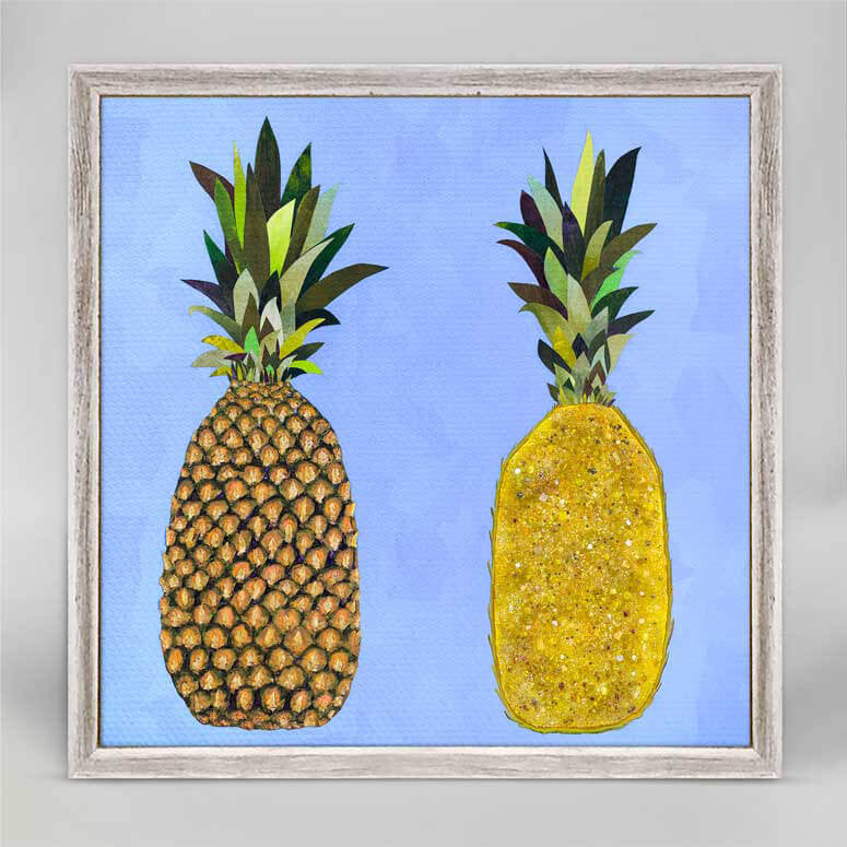 "Tropical Pineapple Pair Mini Print 6"" x 6"""