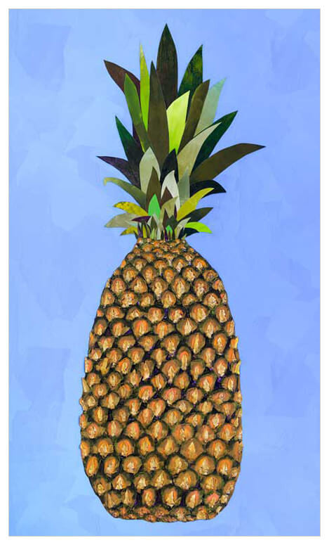 Tropical Pineapple - Giclée Print