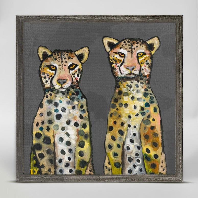 "Two Wild Cheetahs Mini Print 6"" x 6"""