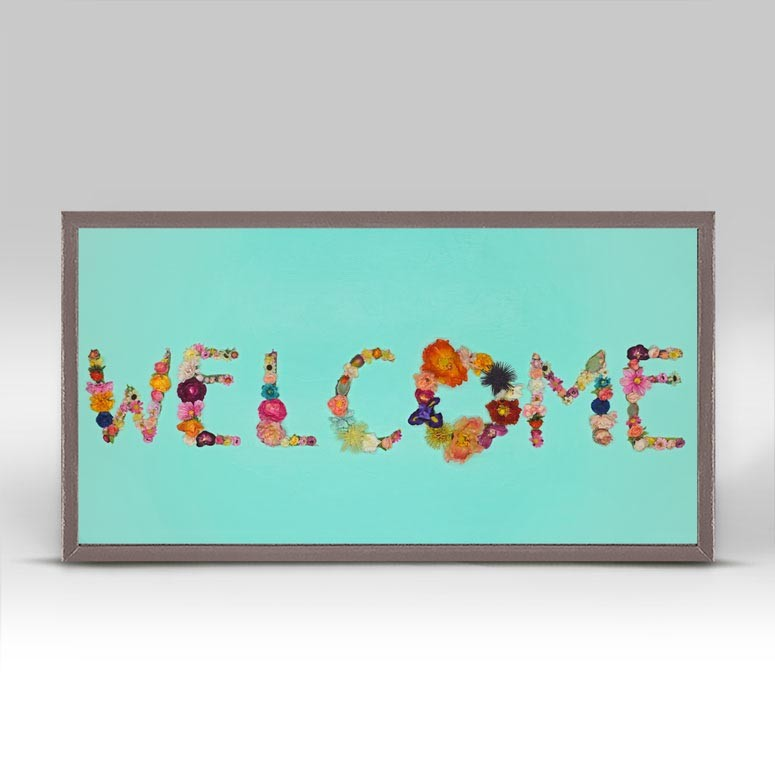 "Welcome Mini Print 10"" x 5"""