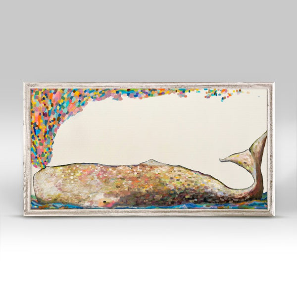 "Whale Spray in Antique White Mini Print 10"" x 5"""