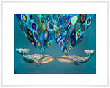 Whales Power Spray - Giclée Print