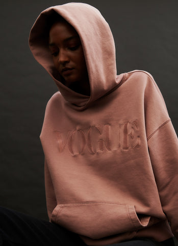 Woman with Clay Vogue Hoodie