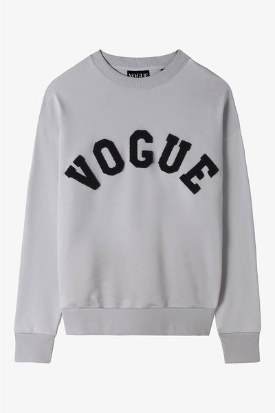 Vogue Light Grey Varsity Sweatshirt