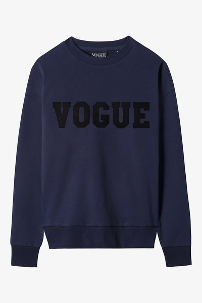 Navy Vogue Varsity Sweatshirt
