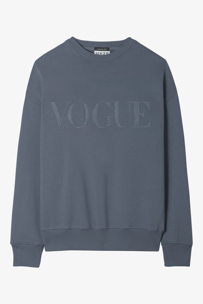 VOGUE Sweatshirt in Stone