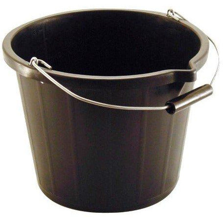 3 Gallon Black Pvc Builders Bucket - Trade 4 Less - Building Supplies UK