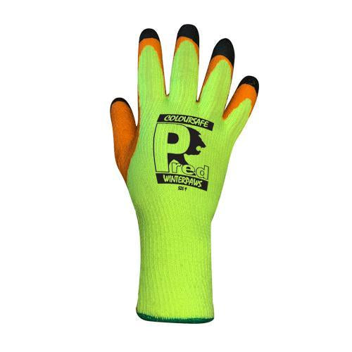 Pred Winter Paws Thermal Latex Palm Gloves - Trade 4 Less - Building Supplies UK