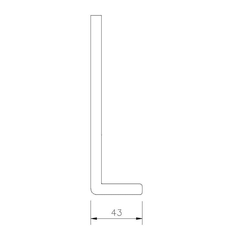 White Square Edge Universal UPVC Fascia Board 9mm – Single Leg - Trade 4 Less - Building Supplies UK