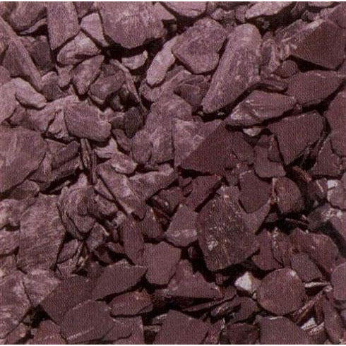 40mm Plum Slate Chippings - 20Kg Bag - Trade 4 Less - Building Supplies UK