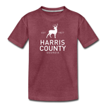 Kids' Premium T-Shirt - Whitetail Buck - heather burgundy