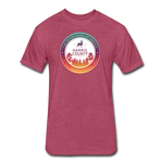 Fitted Cotton/Poly T-Shirt - heather burgundy
