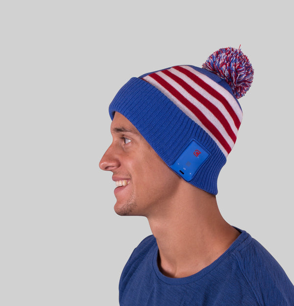 Bluetooth Beanie Dual Layered Bluetooth America & Canada Country Flag - Blu-Toque 2017