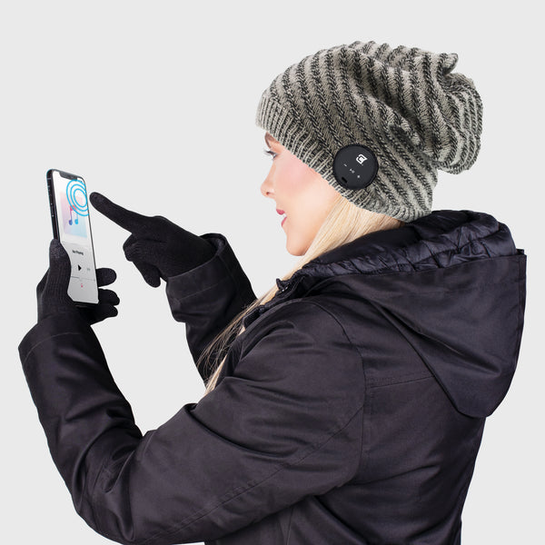 Blu Toque Slouchy & Touch Screen Gloves - Grey Combo Kit