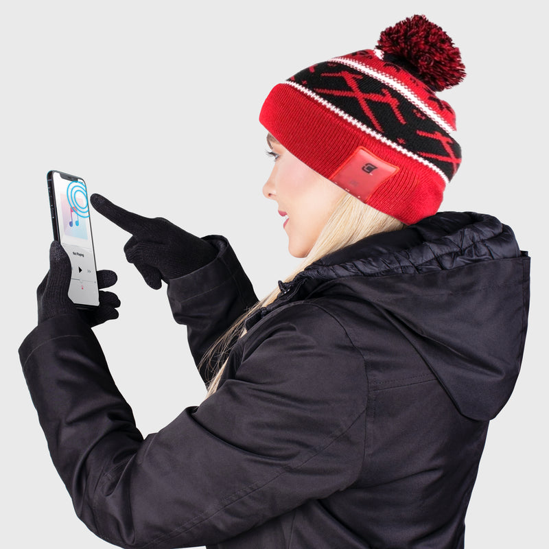 Blu Toque Warm Hat & Touch Screen Gloves - Celtic Combo Kit
