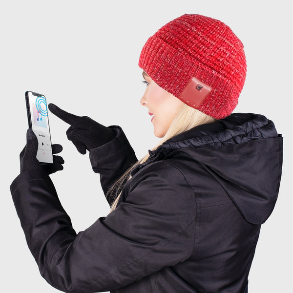 Blu Toque Warm Hat & Touch Screen Gloves - Cerise Combo Kit