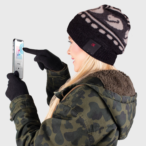 Blu Toque Dual Layered Knit Hat & Touch Screen Gloves - Arctic Combo Kit