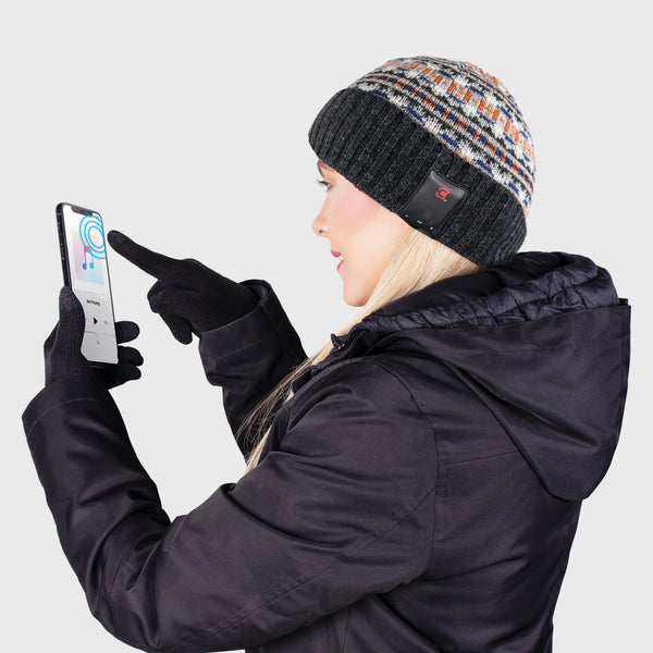 Blu Toque Dual Layered Knit Hat & Touch Screen Gloves - Northbound Combo Kit