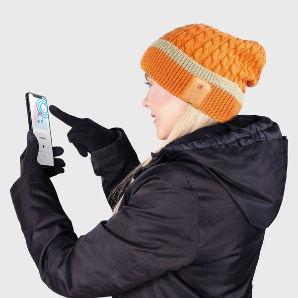 Blu Toque Beanie & Touch Screen Gloves - Ambrosia Combo Kit