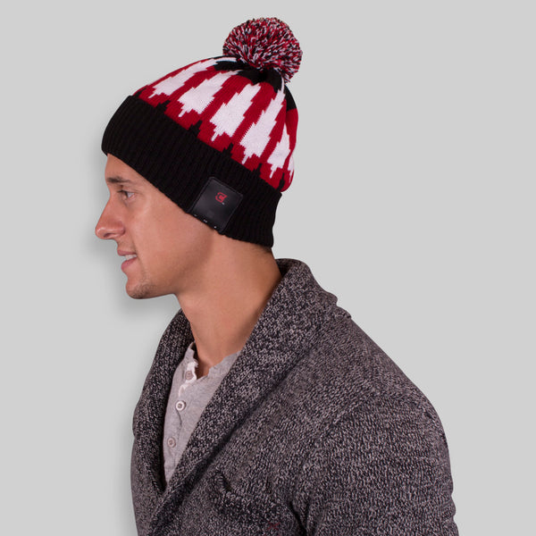 Blu Toque Unisex Bluetooth Beanie With Pom Pom - Magma